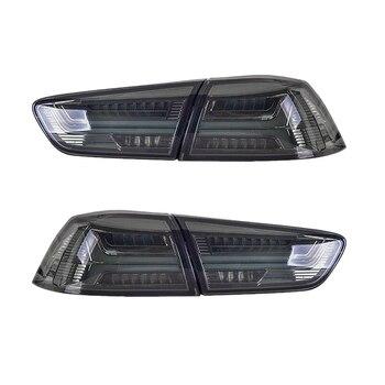 LED Rear Lights Assembly for Mitsubishi LANCER 08-17 Blackened LED Tail Lamps