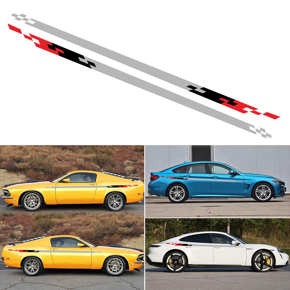 Both Sides Waist Line Car Sticker Auto Side Skirt Decal Decoration For CorollaElantra Civic Ford Focus 2 <font><b>3</b></font> Cruze image