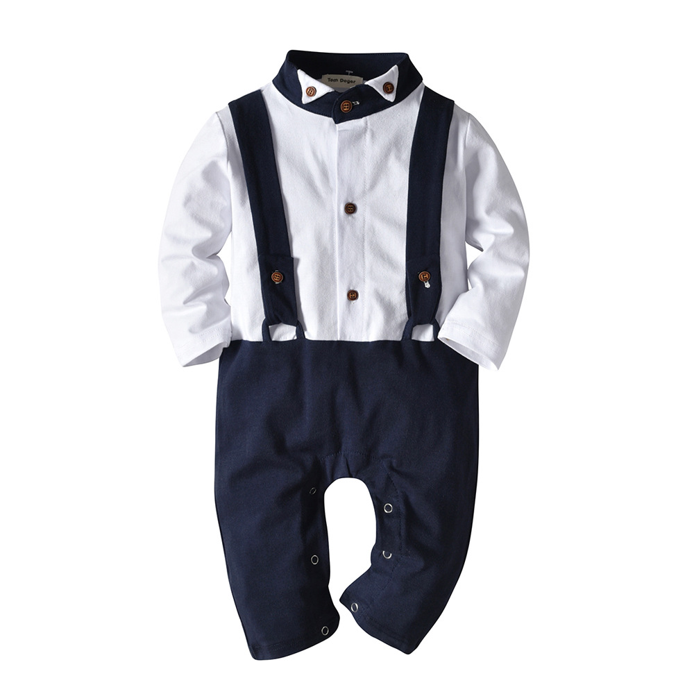Onesies Baby Clothes Autumn Long Cotton Baby Boy Winter Clothes Indoor Rompers Toddler Christmas Dressing Rompers    - title=