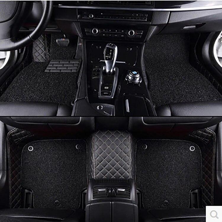 Fabricants vente directe voiture entièrement entouré en cuir écologique tapis spécial coussin de pied pour tapis de pied de voiture spécial