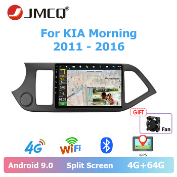 JMCQ Car Android 9.0 Radio For KIA PICANTO Morning 2011-2016 Multimedia Video Player 2 din 4G+64G Split Screen GPS Navigation jmcq 9 car radio 2 din android 9 0 player for kia sportage 2016 2018 multimedia video players stereos split screen with canbus