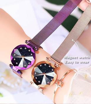 New Style Douyin Hot Selling Star Watch Korean-style Fashion Lazy Magnetic Buckle Ladies' Watch