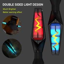 مصباح إشارة الانعطاف على الوجهين للدراجات النارية ، وميض العنبر المدمج ، المرحل ، مؤشر LED الوامض ، مصباح التوقف