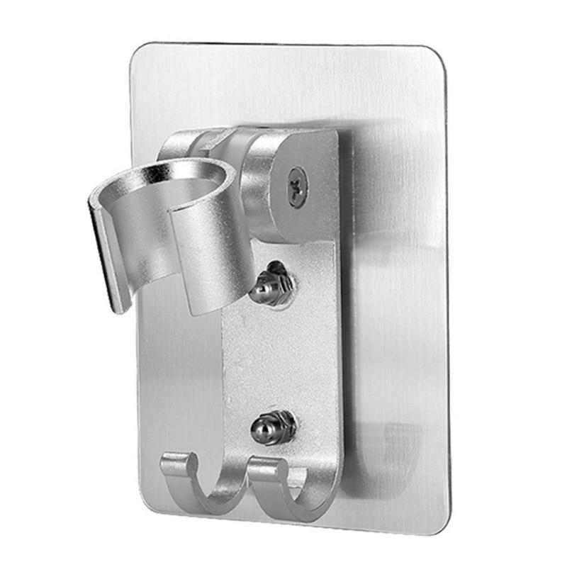Wall Gel Mounted Shower Head Stand Bracket Holder Adjustable Bathroom Shower Head Fitting Portable Bathroom Accessories