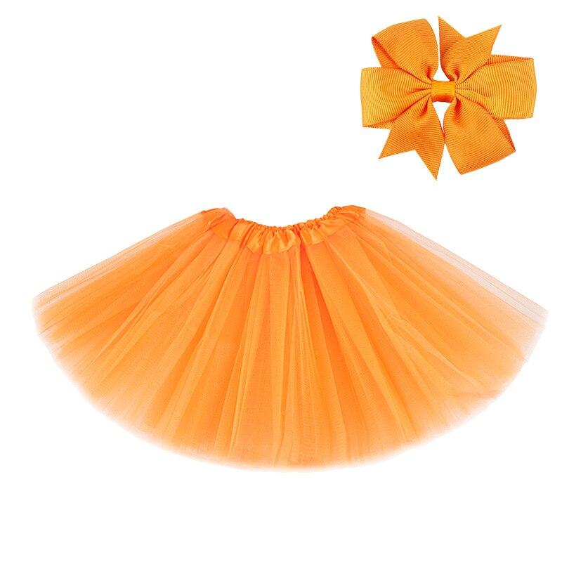 0-8Y Pink Tutu Skirt with Hear-clip for Kids Princess Girls Petticoats Birthday Party Dance Wear Kawaii Skirts 4