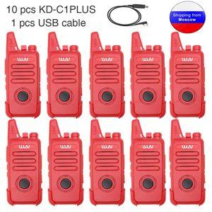 Image 2 - Walkie Talkie KD C1plus WLN mini Radio UHF, 400 470MHz, Delgado, KDC1plus, actualizado, 10 Uds.