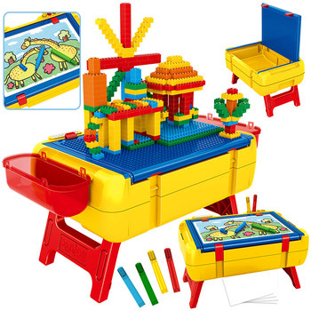Baseplates Box Storage Drawing Board Table Building Blocks City Creator Function Base Learaing Blocks Toy For Children