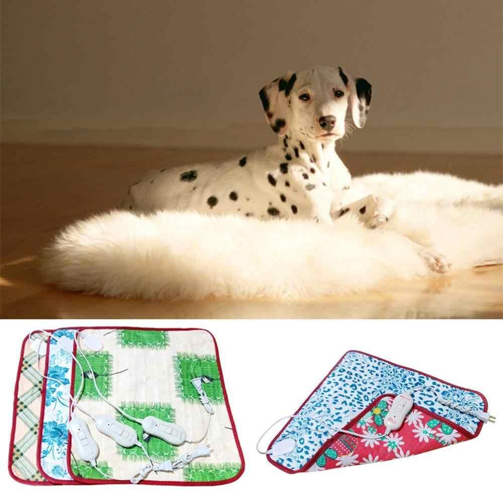새로운 1pcs 220 v 애완 동물 전기 난방 담요 고양이 전기 온수 패드 안티 스크래치 개 난방 매트 가을 겨울을위한 침대