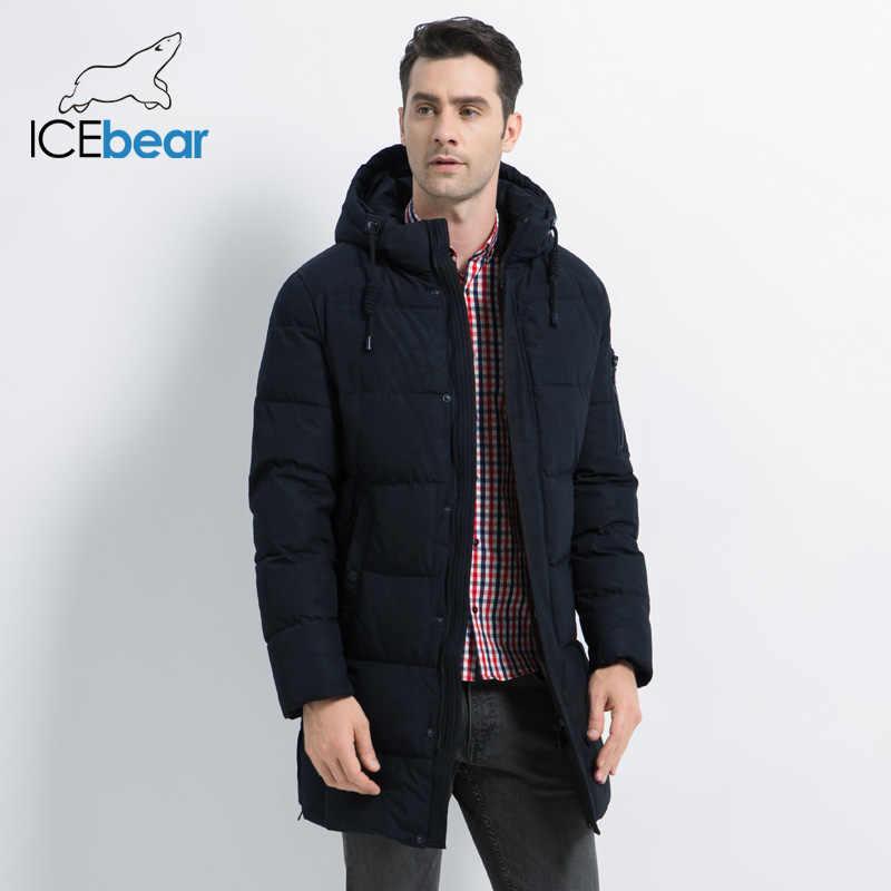 ICEbear 2019 新冬メンズジャケット高品質男性のコート厚く暖かい男性の綿の服ブランド男アパレル MWD17933I