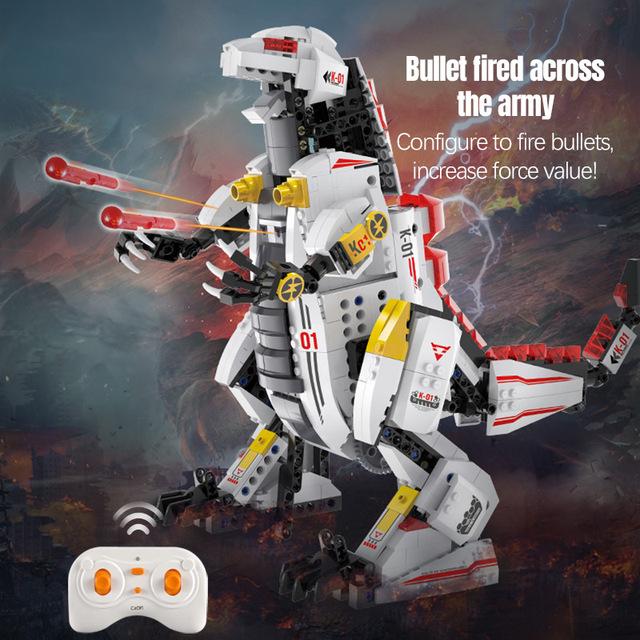 688PCS DIY City Technic RC Mechanical Dinosaur Bricks Creator Remote Control Monsters Building Blocks Toys for Boys Children