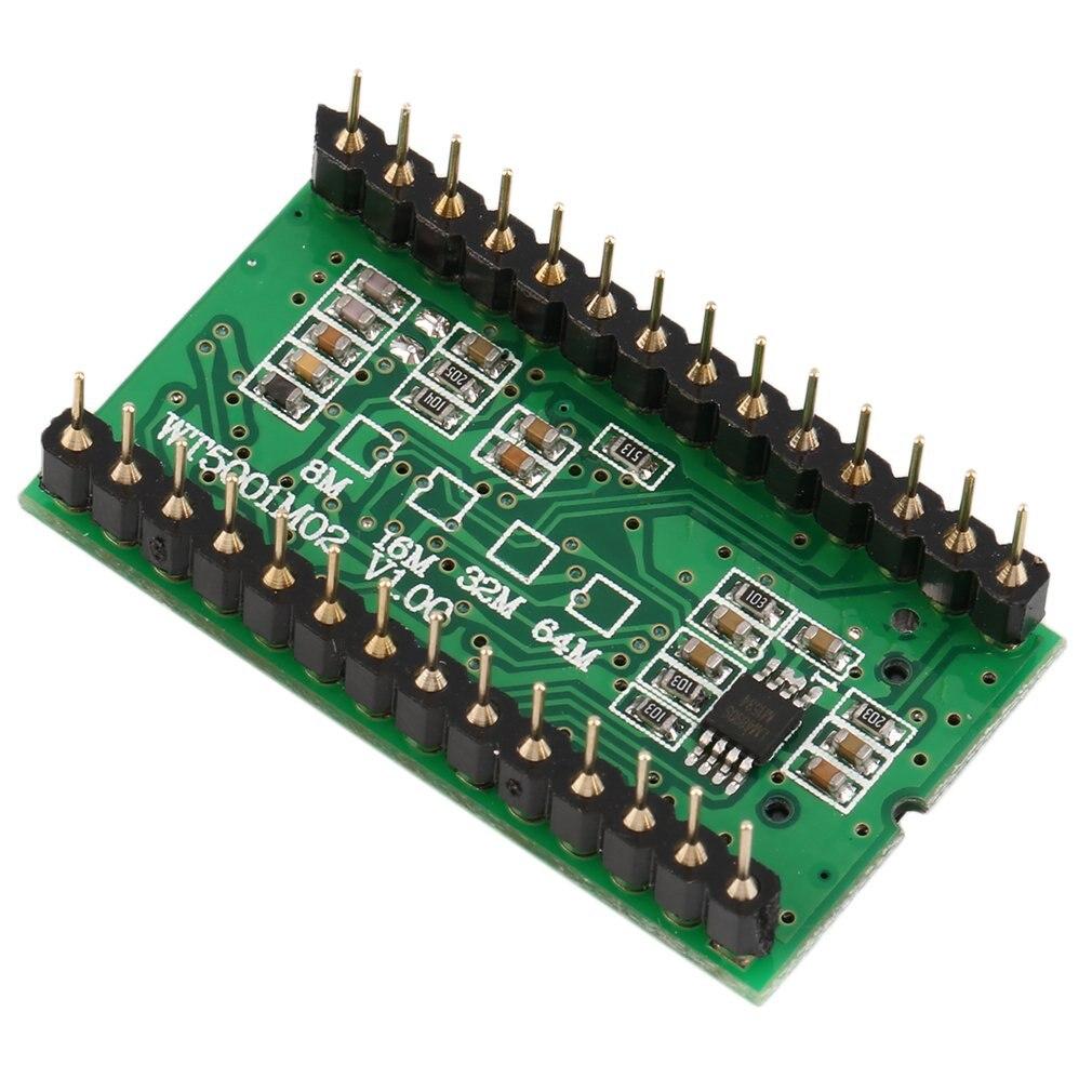 High Quality Sound Module WT5001M02-28P U-disk Audio Player Card Voice Module MP3 Sound For Arduino Green