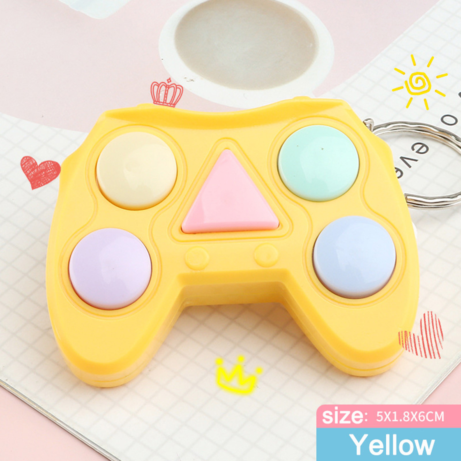 Figet Toy Keychain Memory-Stress Dimple Mini Handle Small Game Early-Educational Electronic img5