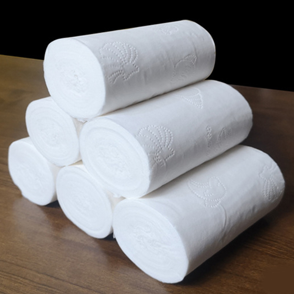 8/10 Rolls Four Layer Kitchen Toilet Tissue Home Bath Toilet Roll Toilet Paper Soft Toilet Paper Skin-friendly Paper Towels