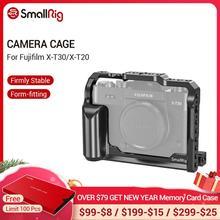 Petite Cage de X T30 pour Fujifilm X T30 et X T20 Cage pour appareil photo reflex numérique avec poignée latérale intégrée + trous de positionnement Arri 2356