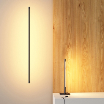 Dimming Line Led Table Lamp Bedroom Bedside Rendering Lighting Simple Fashion Living Room Studio Minimalist Led Desk Lamp
