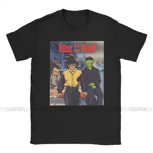 Мужская футболка Boyz In The Hood, хлопковая одежда Goku Dragon Ball, винтажная взрослая футболка с коротким рукавом и вырезом лодочкой