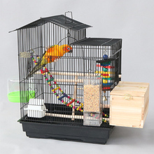 Beloved New Home Parrot Bird Cage Large Breeding Cage Large Metal Matching Cage Tiger Skin Peony Xuanfeng Myna