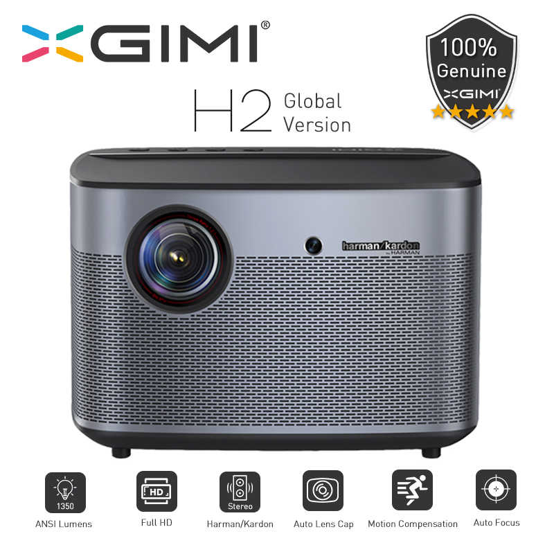 Xgimi H2 Projecteur Global Versi 1080 Piksel Full HD 1350 ANSI Lumens 4K Vidéo Projecteur 3D Support Home PIZZA DI Napoli