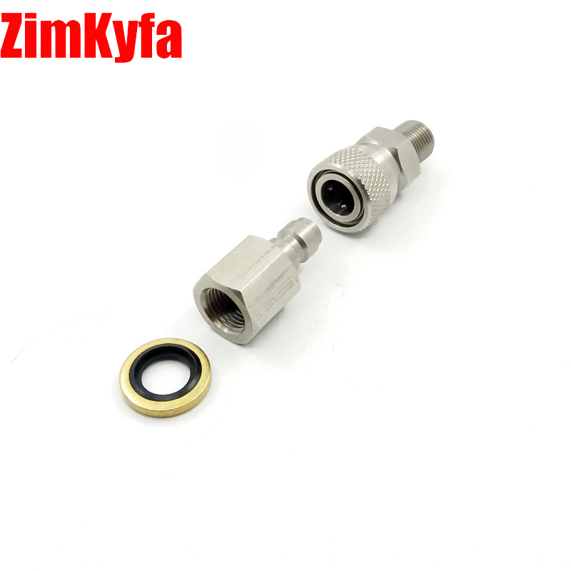 Paintball PCP Air Gun Rifle Stainless 8mm Quick Release Disconnect Coupler Kit 1/8 BSPP For Air Filling Charging