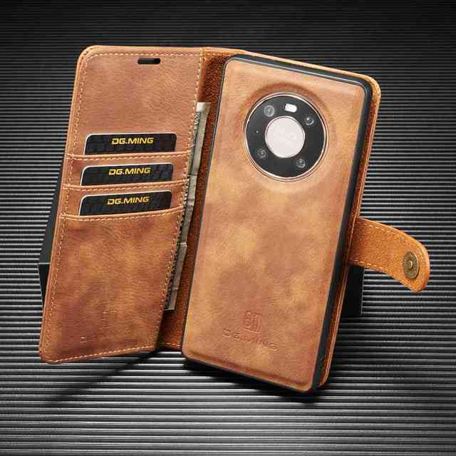 2 in 1 Case For Huawei Mate 40 Pro Plus  Case Cover High End Leather Removable Coque For Huawei Mate 40Pro Cases Wallet Fundas
