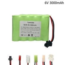 Bateria ni-mh de 6 v e 3000 mah, bateria para caminhão elétrico rc, alta capacidade, 6 v, 3000 mah mah sm/jst/tamiya/EL-2P plug
