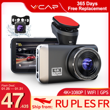 Vvcar D530 Auto Dvr Camera 4K + 1080P Video Recorder Wifi Speed N Gps Dashcam Dash Cam Auto griffier Spuer Nachtzicht