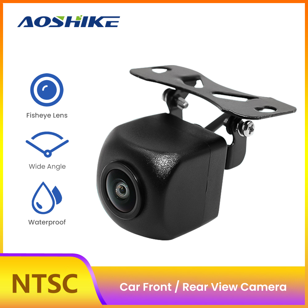 AOSHIKE Car Rear Front Side View Camera 170 Degree Fish Eyes Auto Backup Reverse Camera Night Vision HD Parking Assistance Cam