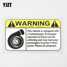 Yjzt 15.2cm × 8.6cm etiqueta do carro engraçado aviso sinal turbo boost decalque pvc 12c-0315