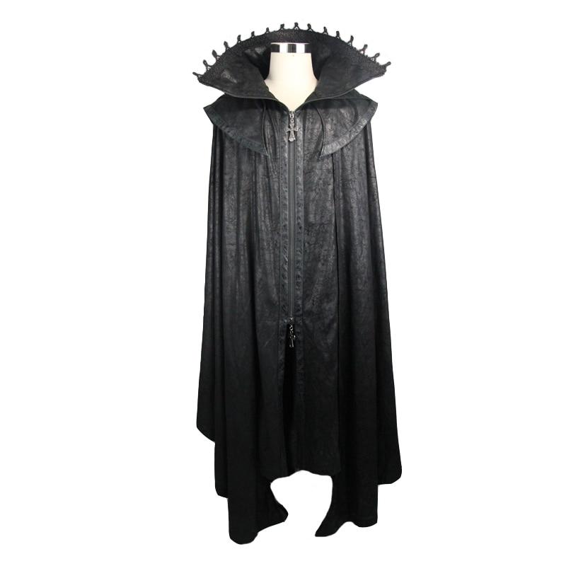 Devil Fashion Women Gothic StyleMysterious Loose Long Cloak Coats Halloween Bat Trench Coats Cape - 4