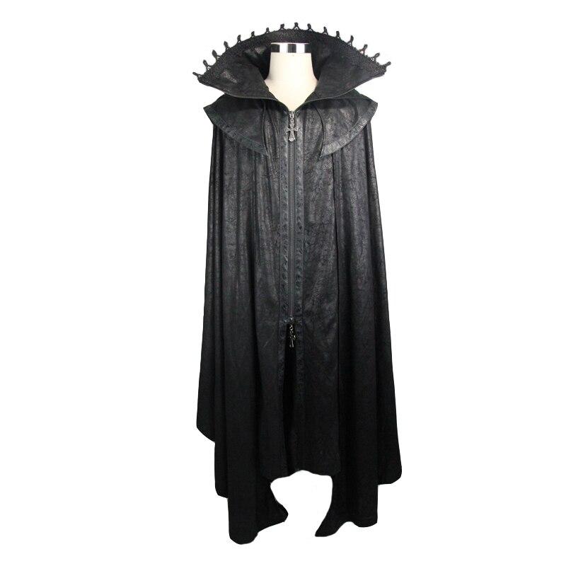 Duivel Mode Vrouwen Gothic StyleMysterious Losse Lange Mantel Jassen Halloween Vleermuis Trenchcoats Cape - 4