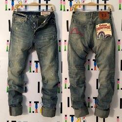 2020 Nuovo Arrivo Evisu casual degli uomini Traspirante di Alta Qualità Dei Jeans degli uomini Caldi di Marea di Marca Del Ricamo Dritto Uomini di Stampa's Pantaloni