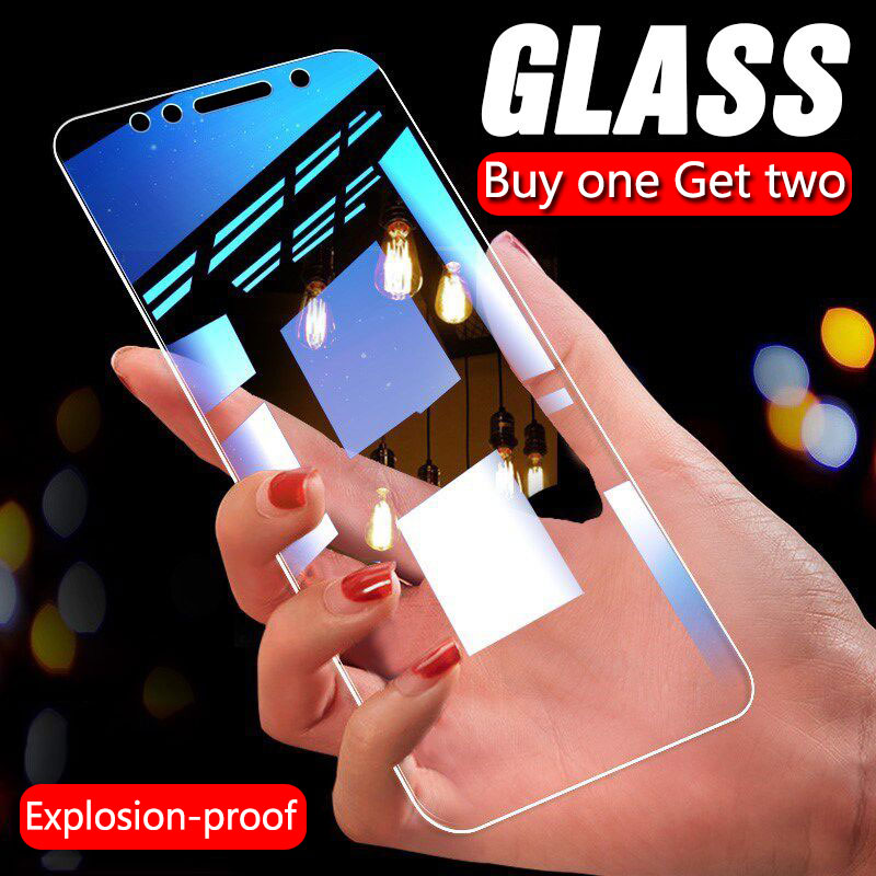 3Pcs Full Cover Tempered Glass For <font><b>Xiaomi</b></font> <font><b>Redmi</b></font> Note 7 8 <font><b>6</b></font> 5 Pro 5A <font><b>6</b></font> Screen Protector For <font><b>Redmi</b></font> 6A 5 Plus Protective Glass Film image