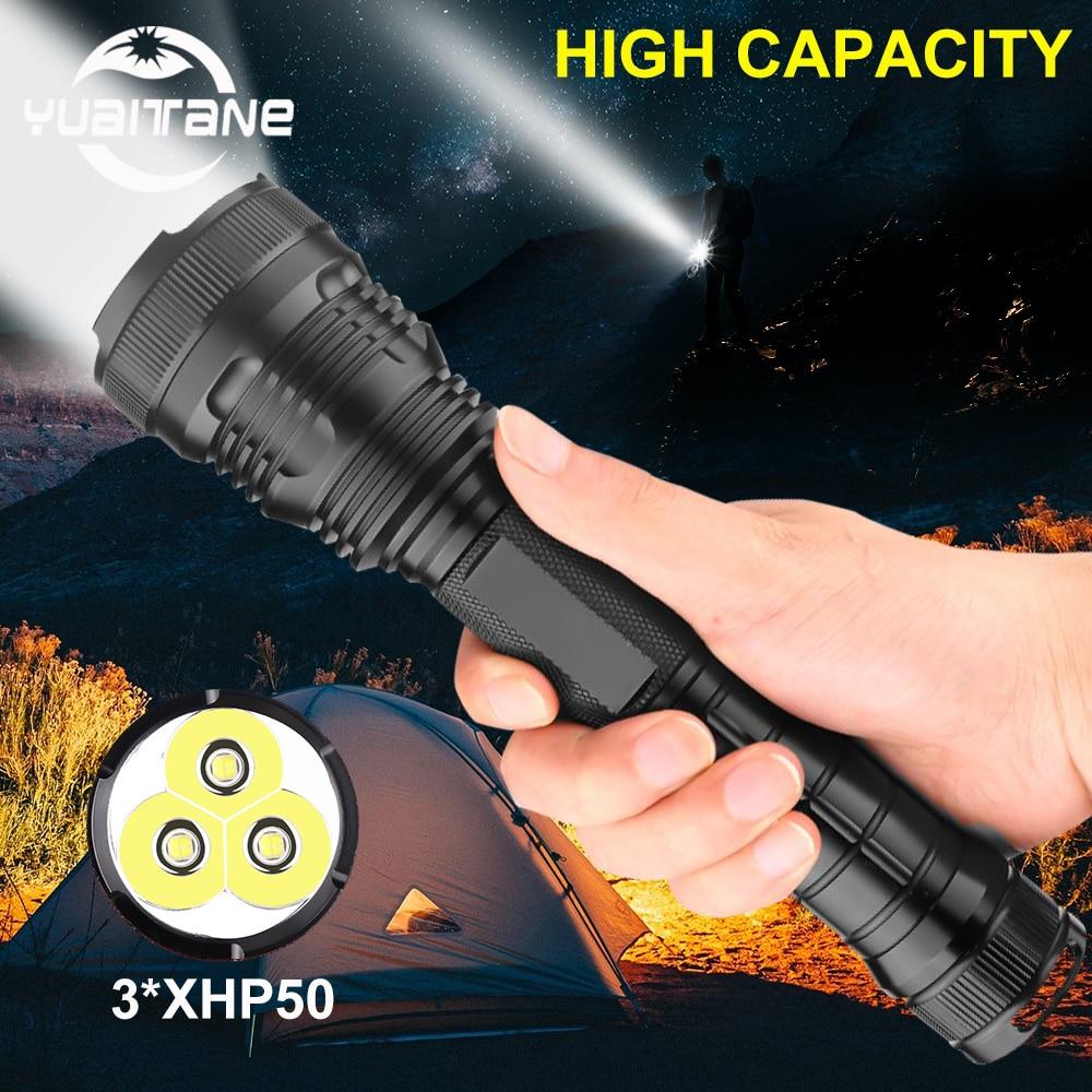 Led Flashlight 150000 Lumens 3*xhp50 Most Powerful Flashlight 26650 Usb Torch Xhp70.2 Lantern 18650 Hunting Lamp Hand Light