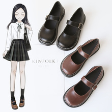 jk uniform shoes cute shoes lo shoes soft sister Japanese retro Mary Jane shoes round head British small leather shoes women lol