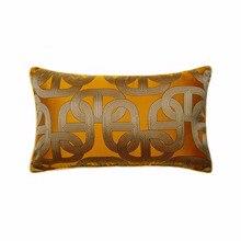 Moderno naranja suave cadena Elipse funda de almohada para cintura 30x50cm Deco silla de coche sofá Lumbar vida cojín vender por pieza