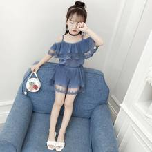 2021 New Summer Girls Sets 12 Children's Clothing 11 Short Sleeve + Pants 9 Student Fashion Two Pieces Suit 8 Kids 7 6 Years Old
