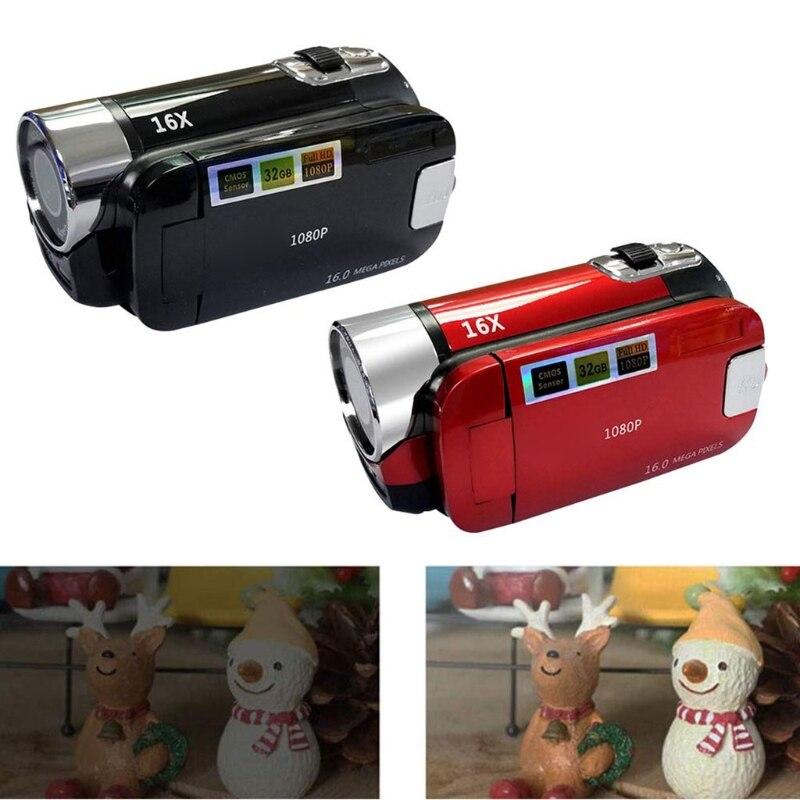 Vlog Camera Recorder Video Camera Camcorder 16X Digital Zoom LCD Flip Screen
