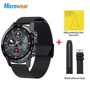 Microwear L16 Smart Watch Men Sports Fitness Tracker IP68 Waterproof Heart Rate Monitor Android IOS Full Touch Screen Smartwatch 22