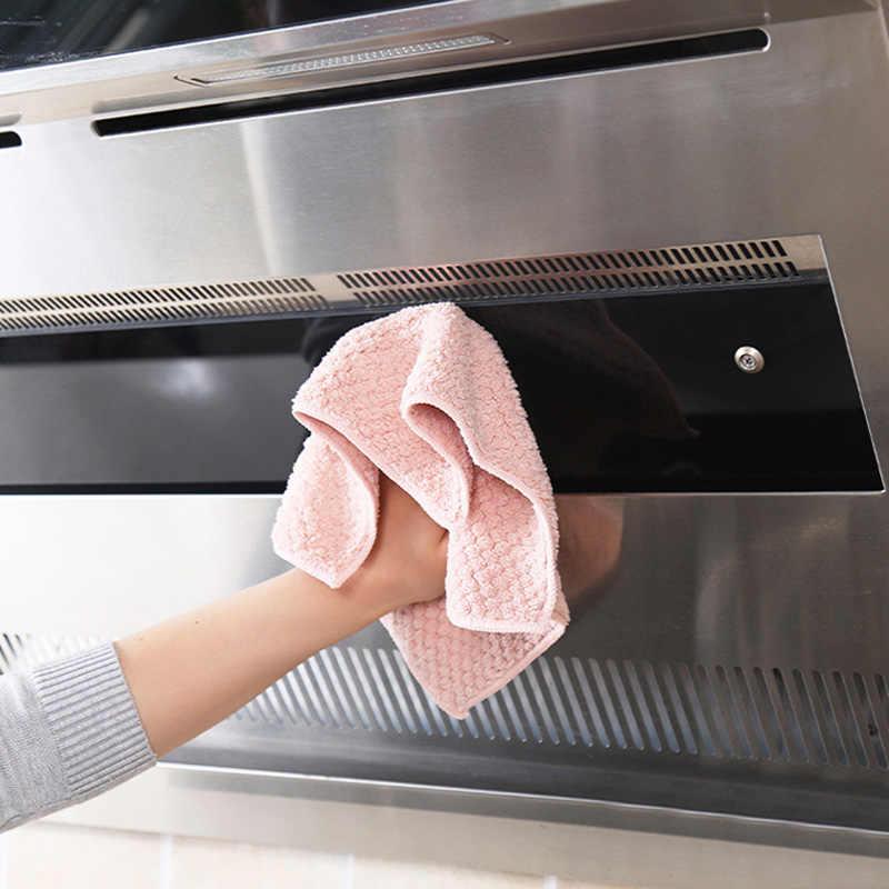 Mutfak Anti-yağ silme paçavra verimli süper emici mikrofiber temizlik bezi ev bulaşık yıkama mutfak temizlik havlusu