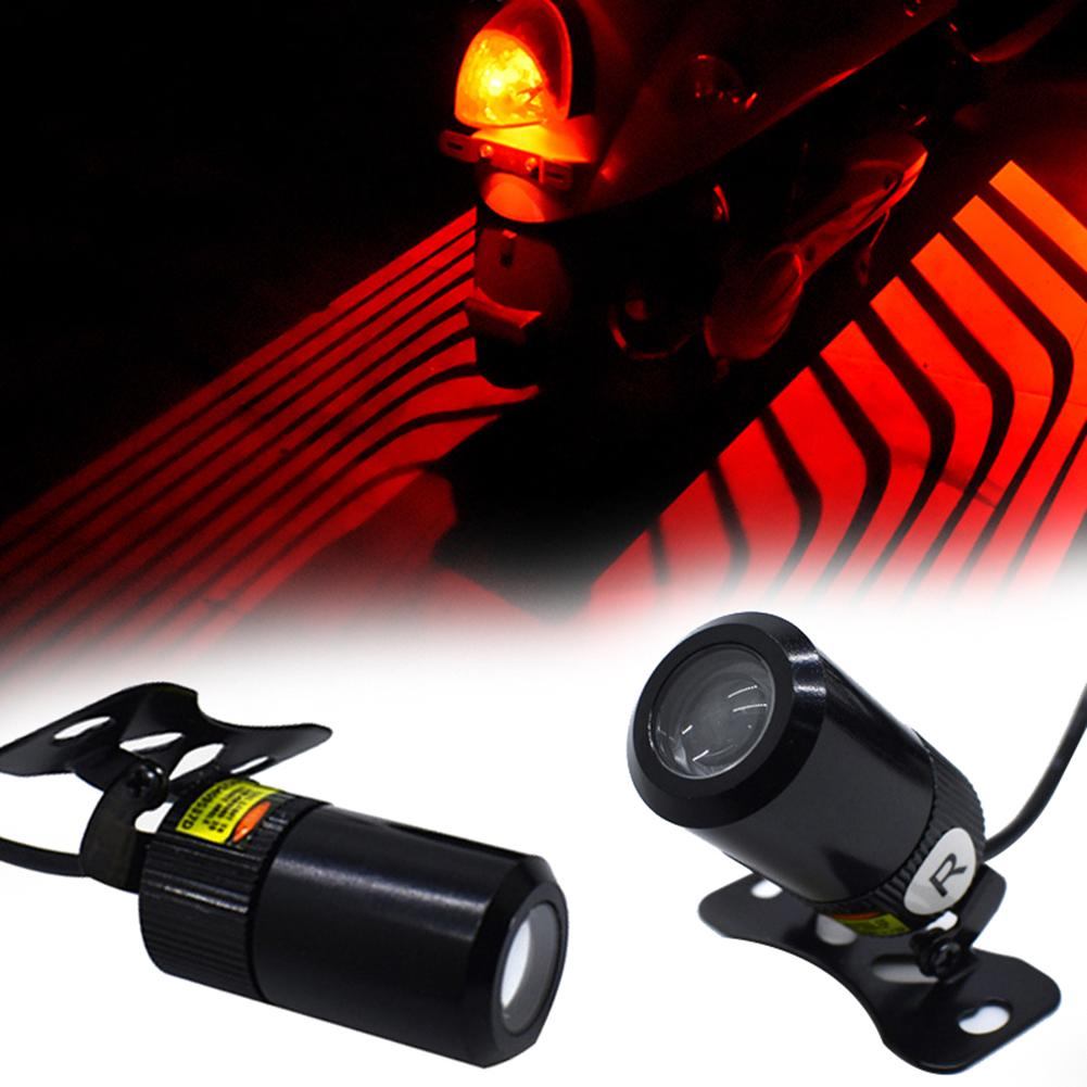 2Pcs Pair Motorcycle Side Angel Wing LED Projector Decor Lamp Waterproof Shadow Welcome Light Projector Shadow Super Bright
