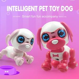 Juguete inteligente de Perro Robot por control remoto para mascotas, juguete electrónico inteligente para perros y niños, Ojos de Animal, grabación de sonido LED