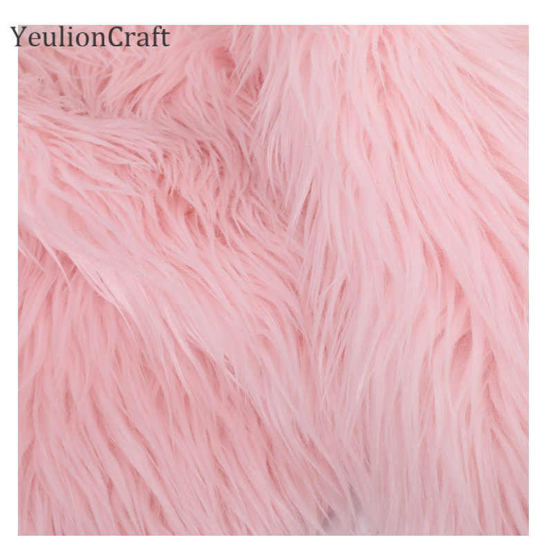 YeulionCraft ארוך ארנב פו פרווה בד לטלאים תפירת חומר בגד Diy עיצוב הבית