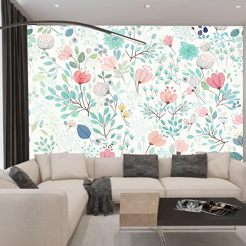 Bedroom Bedside Background Wallpaper Hipster Pastoral Style Wallpaper Small Floral Customize The Murals Television Background Cl