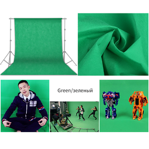 Фон для фотосъемки 1,6x3 м зеленый экран Chroma Key для фотостудии фон подставка нетканый