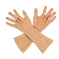 Lifelike Male Silicone Prosthesis Gloves Fake Hands Cover Sleeve Skin Glove Artificial Simulation Arm Beauty Shield