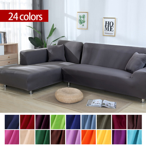 Solid Color Elastic Sofa Cover Universal Sectional Slipcover 1/2/3/4 seater Stretch Couch Cover for Living Room Sofa Case