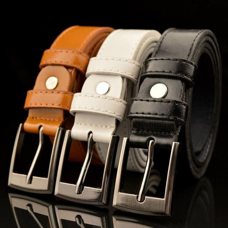 New Style High Quality Children Leather Belts Luxury Design Children's Belt Boys Girls Metal Pin Buckle Pants Belts Waistband