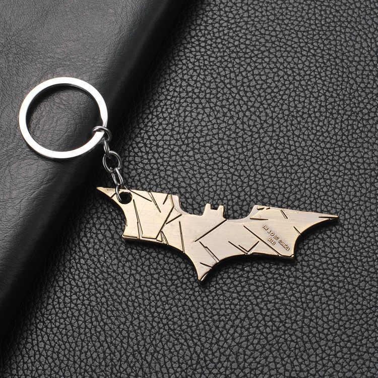 Komik Baru Batman Gantungan Kunci Pria Perhiasan Super Hero Marvel Spiderman Mobil Gantungan Kunci Chaveiro Gantungan Kunci Hadiah