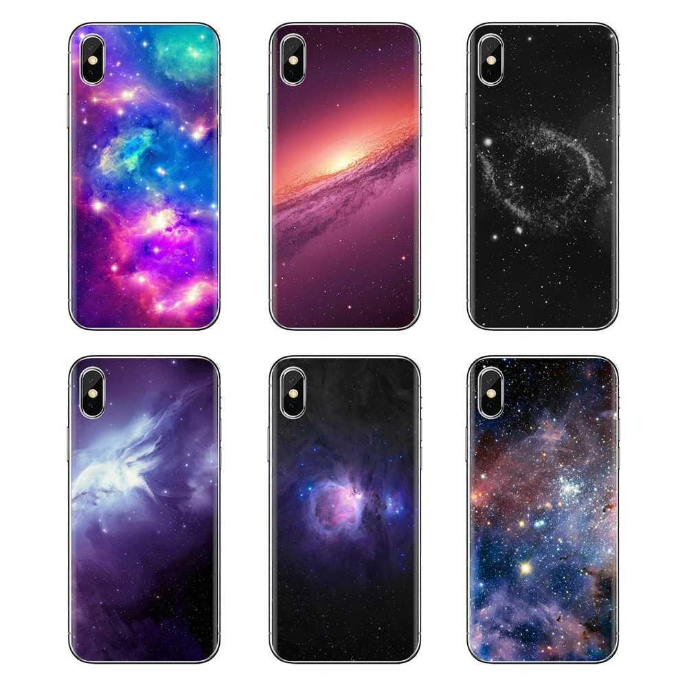 Para Huawei Mate Honor 4C 5C 5X6X7 7A 7C 8 9 10 8C 8X20 lite Pro suave transparente cubiertas de los casos del espacio púrpura estrella