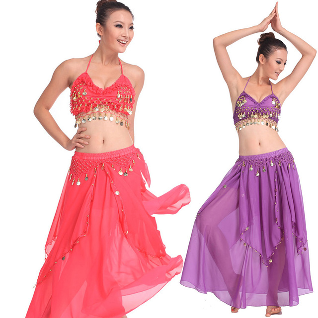 Belly Dancing Clothing Set Stage Performance Dancer Wear Woman Belly Dance Costume 2 Piece (Bra And Skirt) Dance Suit